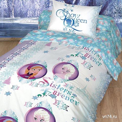 Детское постельное белье Холодное сердце (ранфорс)