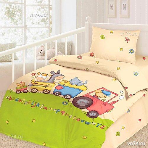 Детское постельное белье Паровозик (сатин-люкс)
