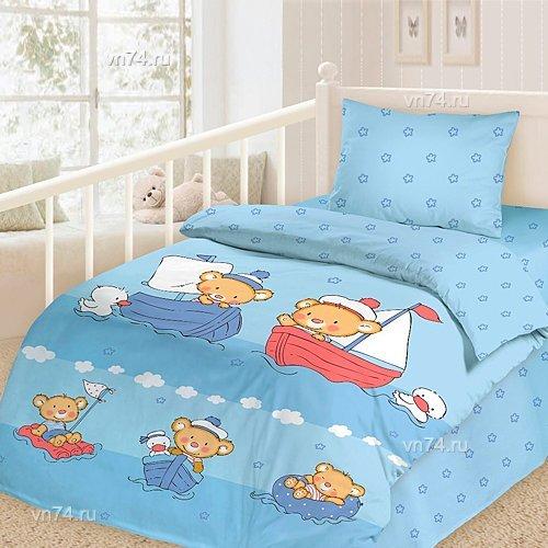 Детское постельное белье Отважные моряки (сатин-люкс)