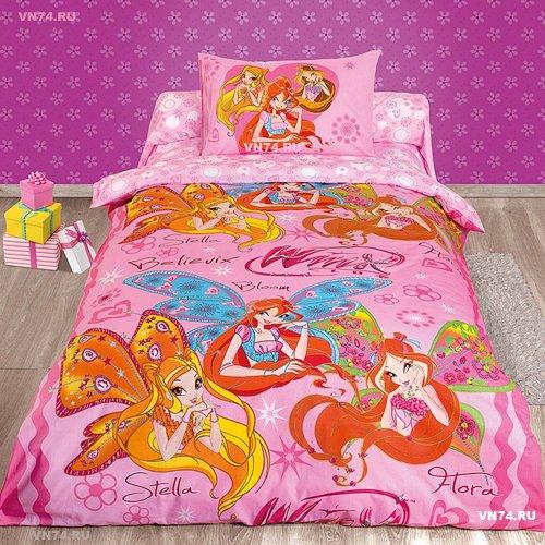 Детское постельное белье Winx Believix (бязь-люкс)