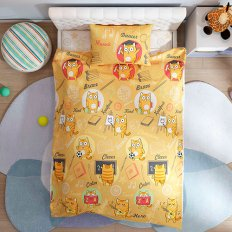 Детское постельное белье Волшебная Ночь Джуниор Ученые коты (поплин)