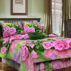 Постельное белье Анастасия Розы на воде (бязь-гост)