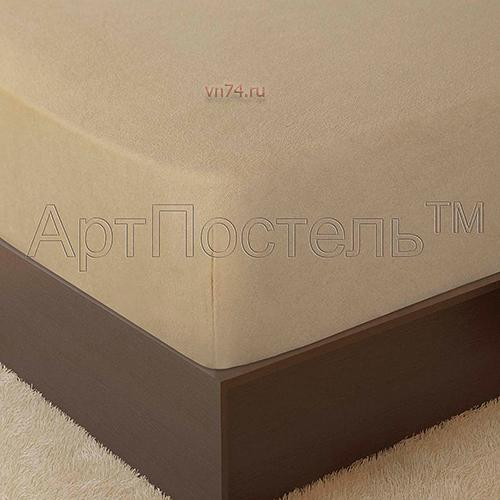 Простыня на резинке Арт-постель махровая акация (хлопок)