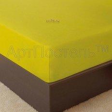 Простыня на резинке Арт-постель махровая лимон (хлопок)