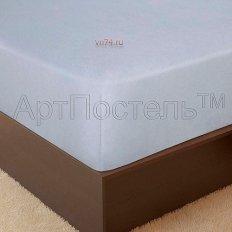 Простыня на резинке Арт-постель махровая подснежник (хлопок)