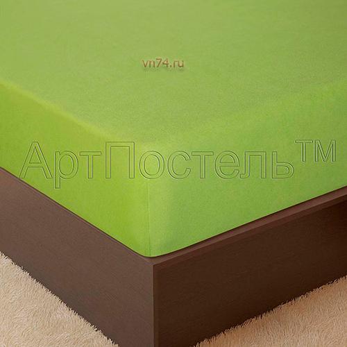 Простыня на резинке Арт-постель махровая яблоня (хлопок)