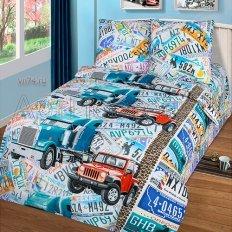 Детское постельное белье Арт-постель Автобан (бязь-люкс)