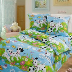 Детское постельное белье Арт-постель Далматинцы грунт. (бязь-люкс)