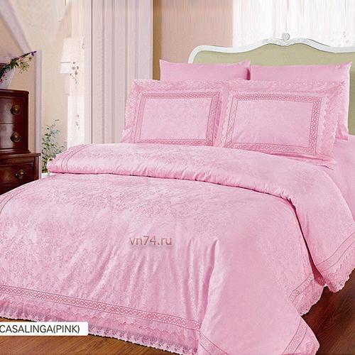 Постельное белье Arya CASALINGA розовый (жаккард)