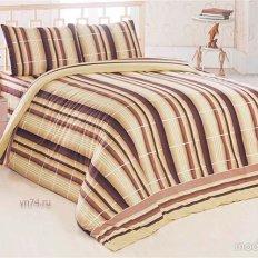 Постельное белье Arya Classi EKOSEM коричневый (бязь-люкс)