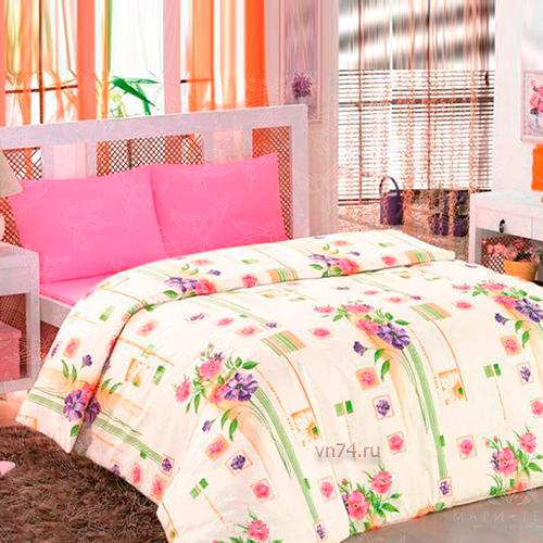 Постельное белье Arya Classi EVA BUKET розовый (бязь-люкс)