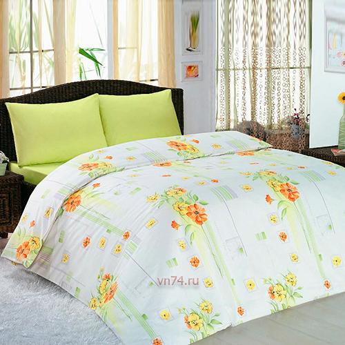 Постельное белье Arya Classi EVA BUKET зеленый (бязь-люкс)