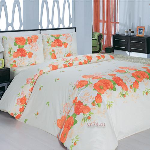 Постельное белье Arya Classi FLORA персиковый (бязь-люкс)