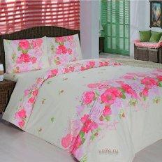 Постельное белье Arya Classi FLORA розовый (бязь-люкс)