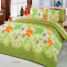 Постельное белье Arya Classi GULCAN зеленый (бязь-люкс)