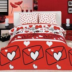 Постельное белье Arya Classi LOVE STORY красный (бязь-люкс)