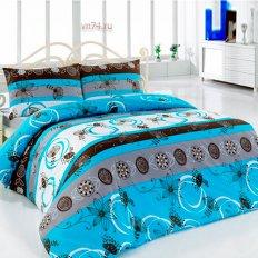 Постельное белье Arya Classi MONTAE голубой (бязь-люкс)