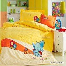 Детское постельное белье Arya Happy Elephant (сатин)