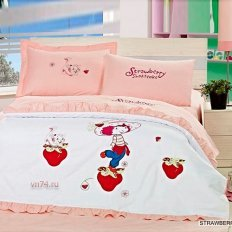 Детское постельное белье Arya Strawberry Girl (сатин)