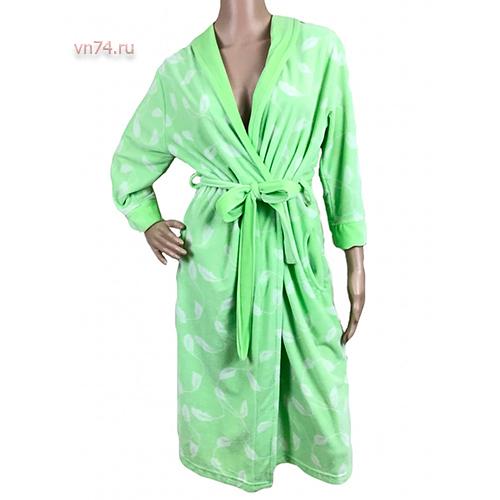 Халат женский махровый MELISA зеленый (бамбук)