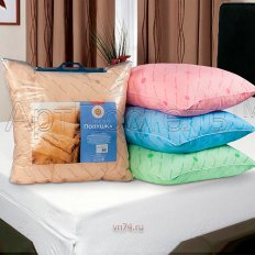 Подушка с кантом АртПостель холофайбер (хлопок)