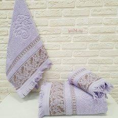 Полотенце махровое Nusa Биатрис лиловый