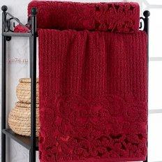 Полотенце махровое Nusa Cassandra бордовый