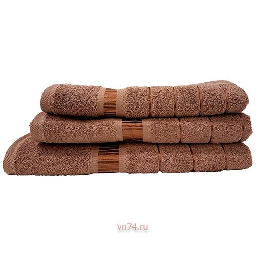 Полотенце махровое Nusa Elegans коричневый