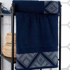 Полотенце махровое Nusa Hermes синий