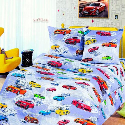 Детское постельное белье Арт-постель Авто Мир (бязь-люкс)