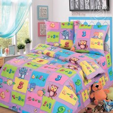 Детское постельное белье Арт-постель Забавный счет фиолетовый (бязь-люкс)