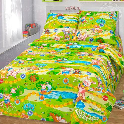 Детское постельное белье Арт-постель Лужок (бязь-люкс)