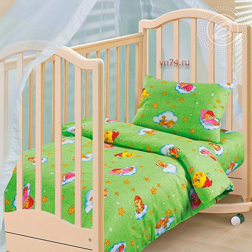 Детское постельное белье Арт-постель Облачко зел. (бязь-люкс)