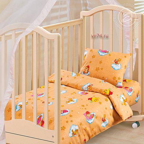 Детское постельное белье Арт-постель Облачко жёлт. (бязь-люкс)