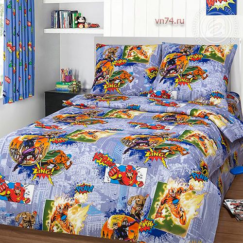Детское постельное белье Арт-постель Супергерои (бязь-люкс)