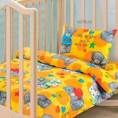 Детское постельное белье Арт-постель Топтыжка желтый (бязь-люкс)