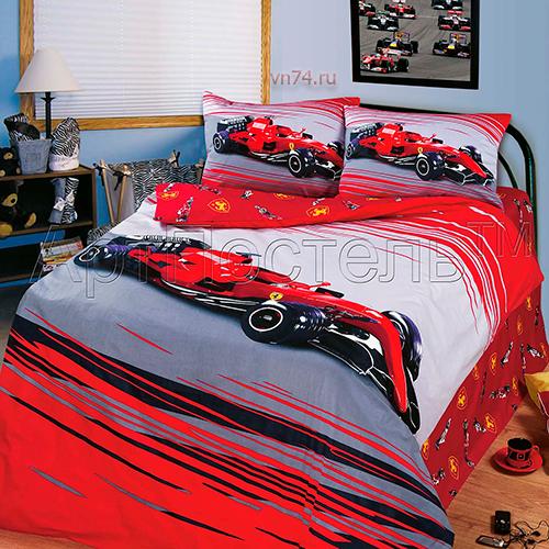 Детское постельное белье Арт-постель Формула 1 (сатин)