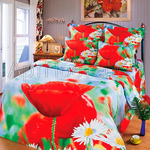 Постельное белье Арт-постель Маки (сатин)