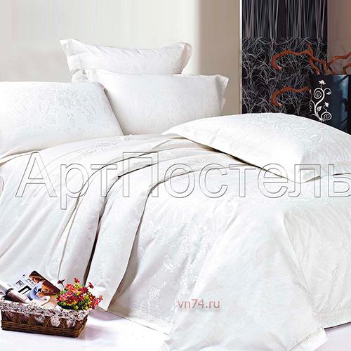 Постельное белье Арт-постель Миледи белоснежный (сатин-жаккард)