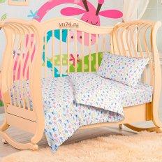 Детское постельное белье с резинкой на простыне Арт-постель Машинки (трикотаж)