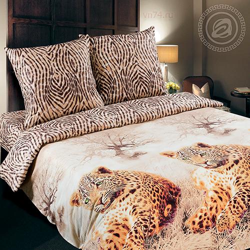 Постельное белье Арт-постель Леопард  (поплин)