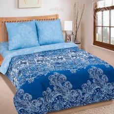 Постельное белье Арт-постель Синий узор (поплин)