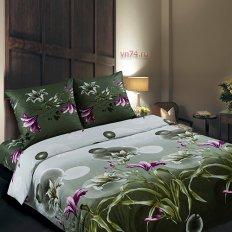 Постельное белье с простыней на резинке Арт-постель Полет (поплин)