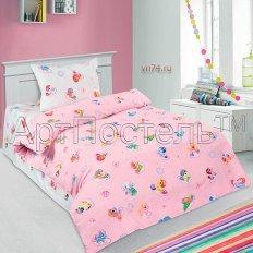 Детское постельное белье Арт-постель Бусинка роз. (поплин)