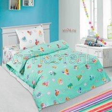 Детское постельное белье Арт-постель Бусинка зел. (поплин)