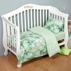 Детское постельное белье Арт-постель Самолетики зел. (поплин)