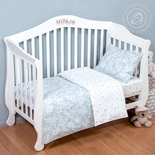 Детское постельное белье Арт-постель Звездочет сер. (поплин)