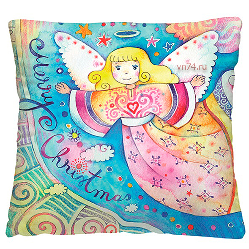 Подушка декоративная 40 x 40 Радужный ангел