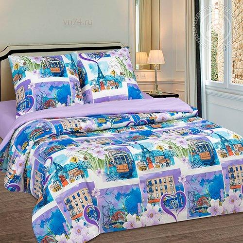 Постельное белье Арт-постель Город любви (поплин)