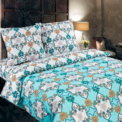 Постельное белье Арт-постель Камилла бирюзовая (поплин)